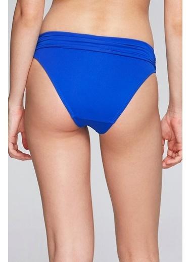 Reflections Mix Match Katlanılabilir Düz Yüksek Bel  Bikini Alt Saks